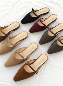 66GIRLSPointed Toe Strap Mules
