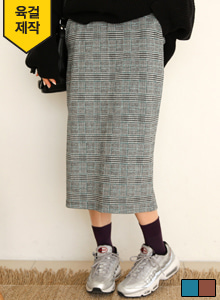 66GIRLSElastic Waistband Check Skirt