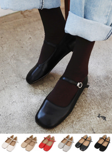 66GIRLSSquare Toe Strap Shoes