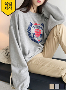 66GIRLSLoose Fit Graphic Print Sweatshirt