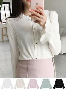 66GIRLSBell Sleeve Solid Tone Cardigan