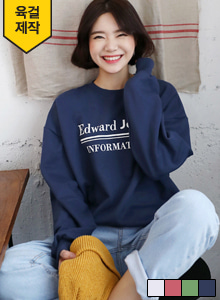 Loose Fit Lettering Print Sweatshirt