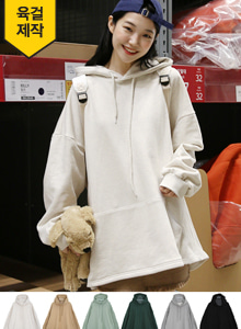 66GIRLSKangaroo Pocket Loose Fit Hoodie