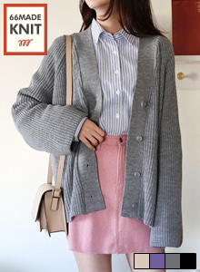 66GIRLSWide Sleeve Loose Fit Cardigan