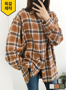 66GIRLSCotton Loose Fit Check Shirt