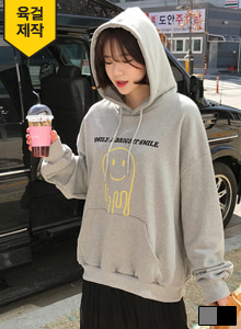 66GIRLSLoose Fit Graphic Print Hoodie