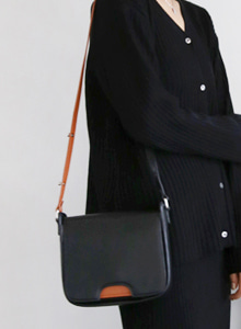 Contrast Tone Panel Crossbody Bag
