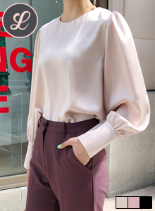 Puff Sleeve Sleek Blouse