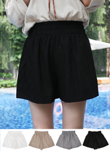 66GIRLSHigh Waist Wide Leg Shorts