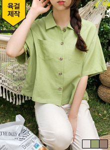 66GIRLSChest Pocket Loose Fit Shirt