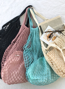 Net Tote Bag and Pouch Set