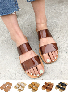 66GIRLSDouble Strap Slide Sandals