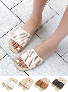 66GIRLSWoven Slide Sandals