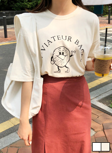 66GIRLSCotton Graphic Print T-Shirt
