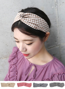 Gingham Check Headband