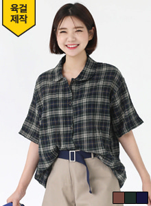 66GIRLSShort Sleeve Check Shirt