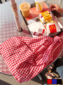 Gingham Check Tote Bag