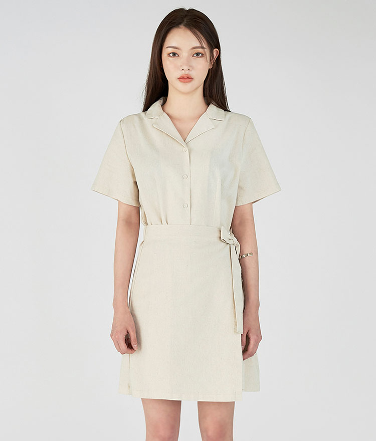 Summer Shirt Wrap Dress