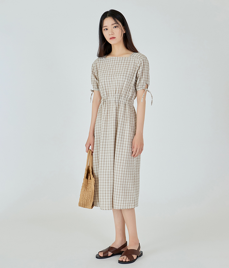 Love Square Checked Dress