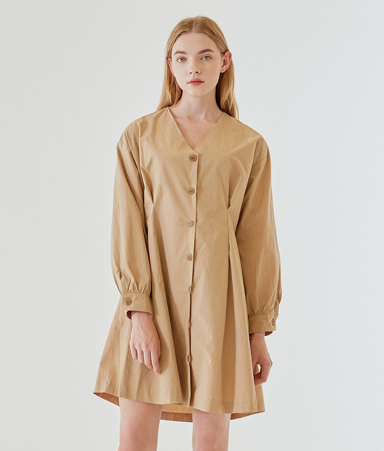 V-neck Trench Dress