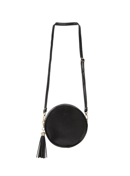 Tassel Detail Round Crossbody Bag