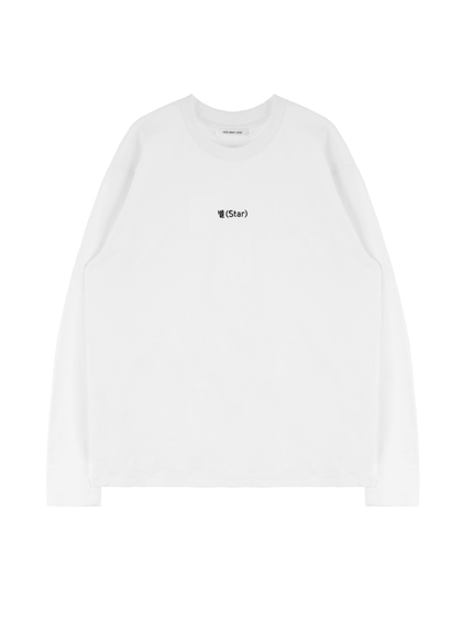 HIDE AND SEEKEmbroidered Word Detail Sweatshirt