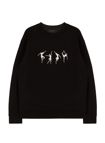HIDE AND SEEKEmbroidered Ice Skater Girl Sweatshirt