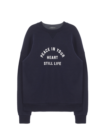 HIDE AND SEEKLoose Text Print Sweatshirt