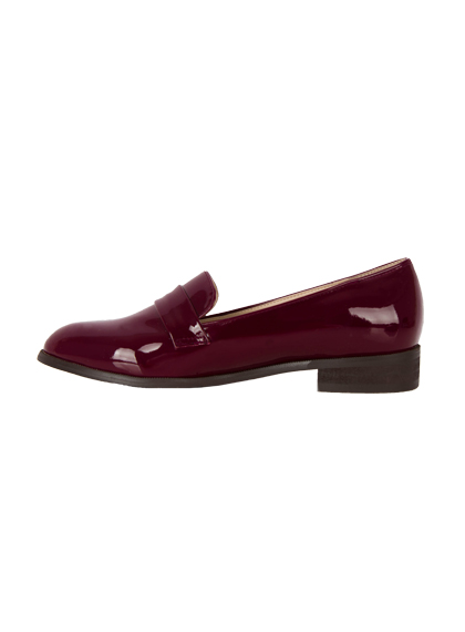 Basic Faux Leather Loafers