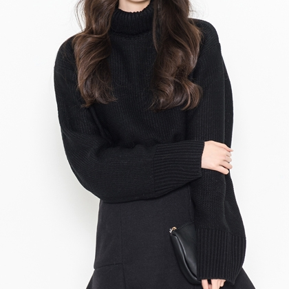 BAUHAUSChunky Knit Turtleneck Sweater