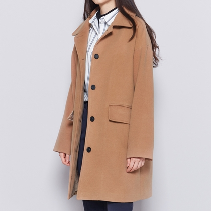 BAUHAUSFlap Pocket Button-Down Coat