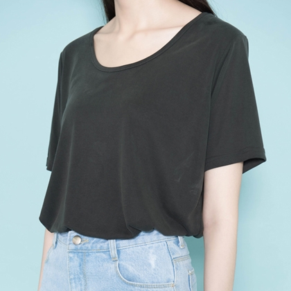 Basic Solid Tone T-Shirt