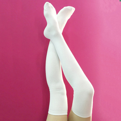 Plain Thigh High Socks