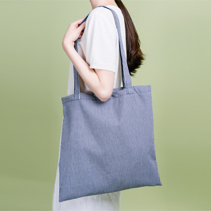 Dress Striped Tote Bag