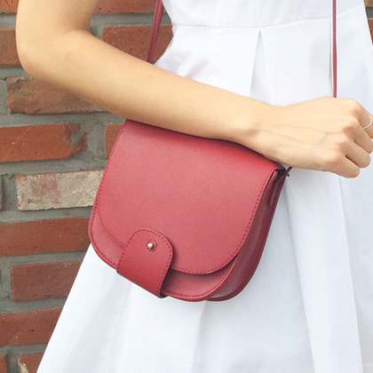 Flap Front Saddle Crossbody Bag