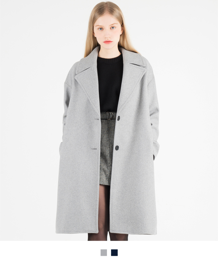 Woolen Knee-Length Coat