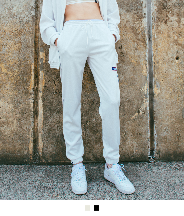 HIDEPiping Trim Jogging Pants