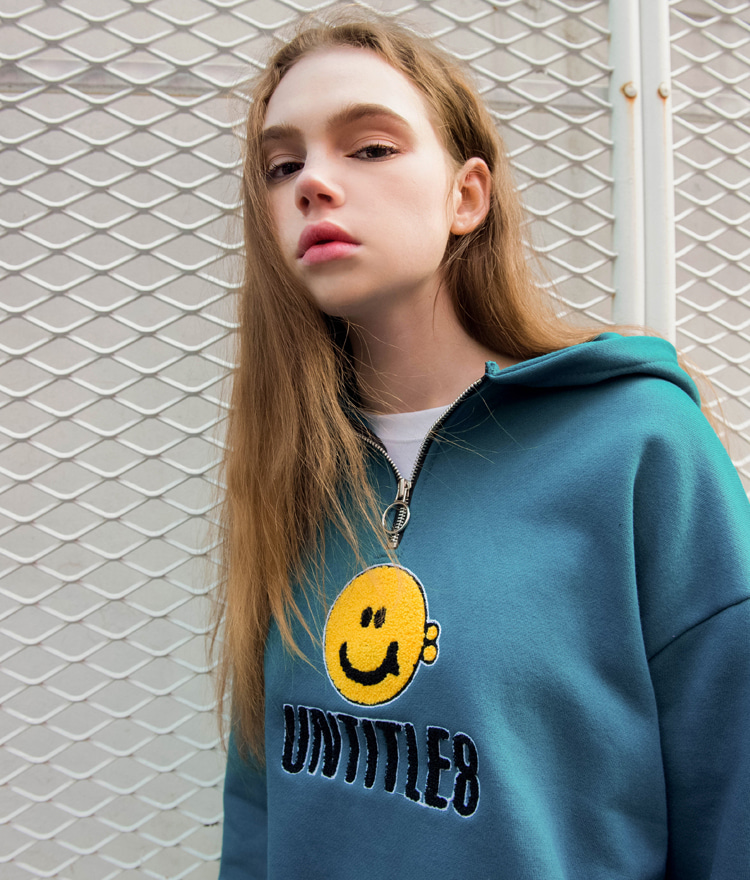 UNTITLE8Smile Face With Logo Patch Hoodie
