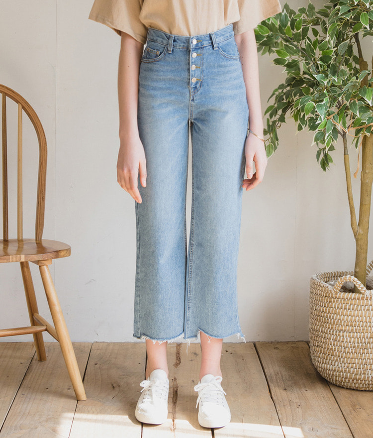 ESSAYButton-Fly High Waist Jeans
