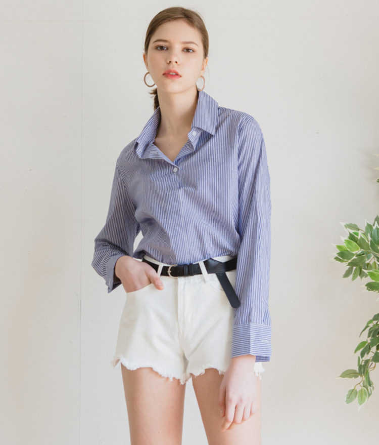 ESSAYButton-Up Stripe Shirt