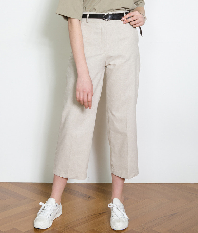 ESSAYLinen Blend Straight Cut Pants
