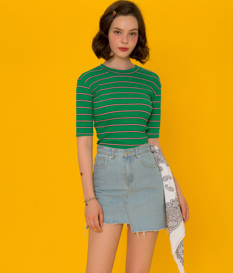 CRUSHShort Sleeve Stripe T-Shirt