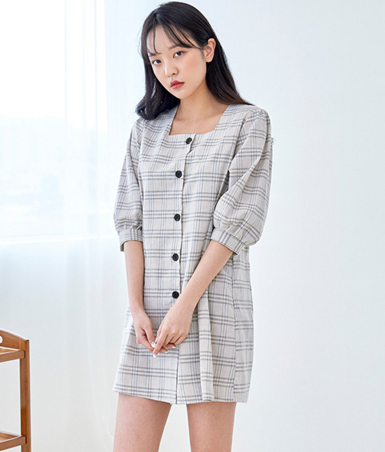 ROMANTIC MUSESquare Neck Dress