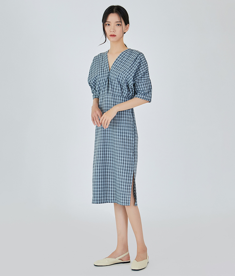 ESSAYV-Neck Check Dress