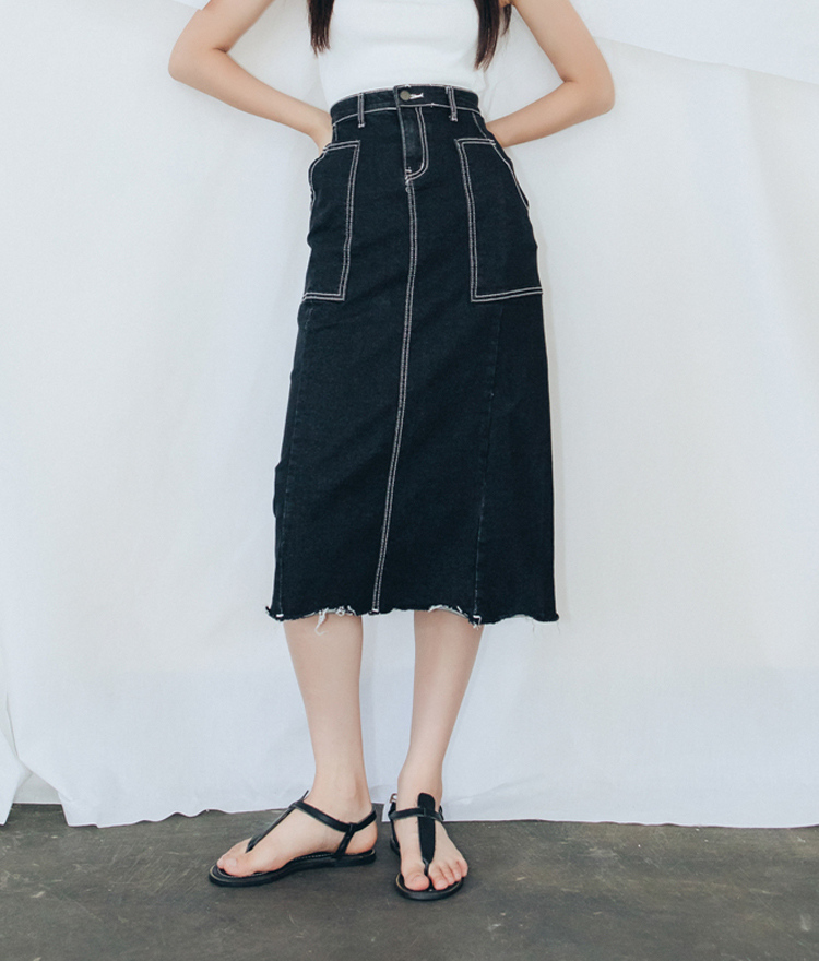 QUIETLABSlit Back High Waist Skirt