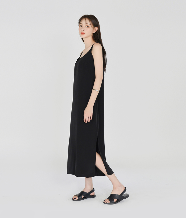 ESSAYSlit Hem Midi Sleeveless Dress