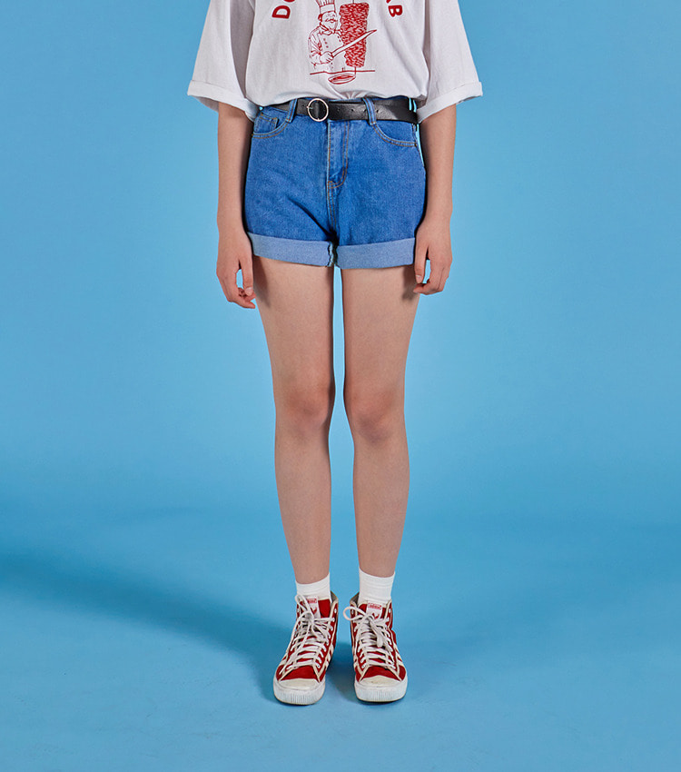 NEVERM!NDMini Denim Shorts