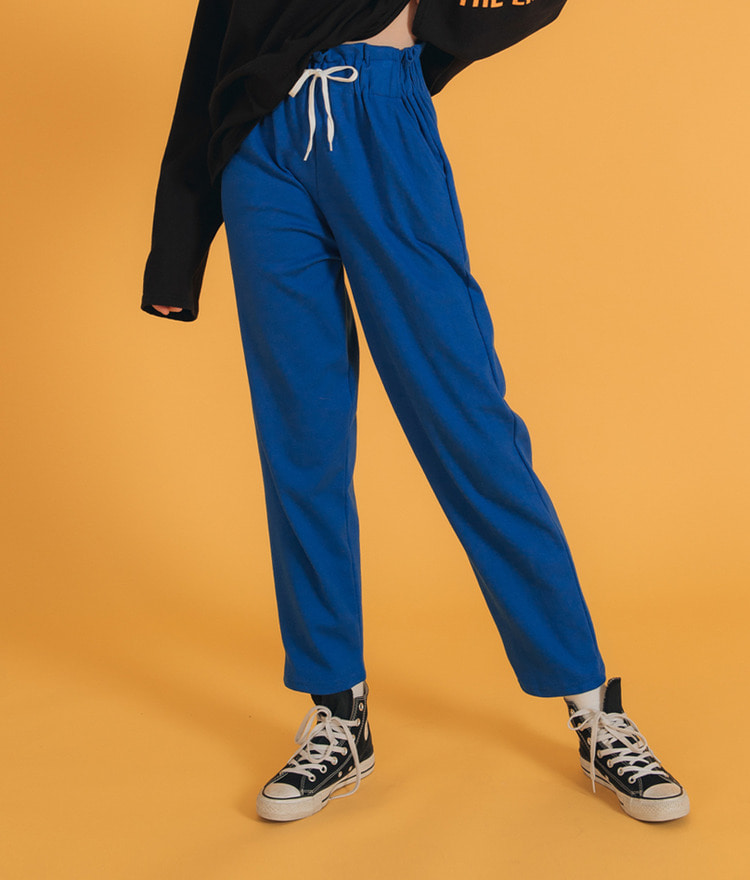 NEVERM!NDDrawstring Solid Tone Sweatpants