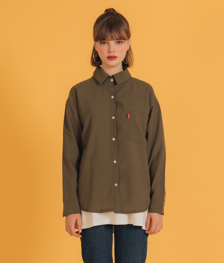 NEVERM!NDChest Pocket Solid Tone Shirt