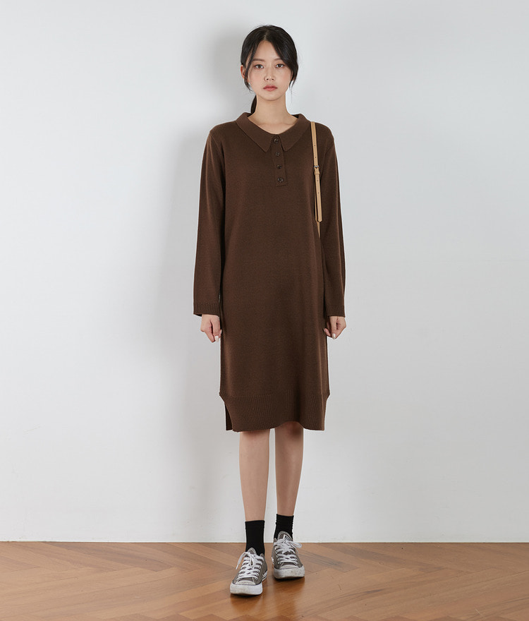 ESSAY Collared Knit Dress